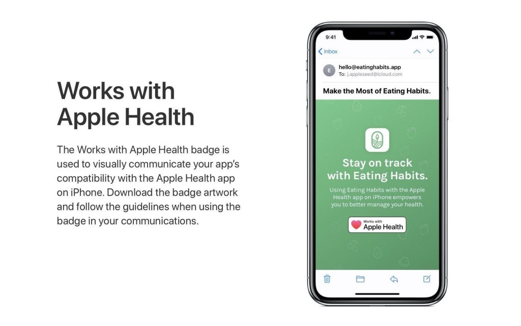work with health badge