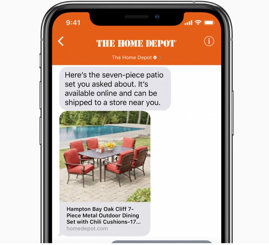 Apple Buniess Chat Homepot